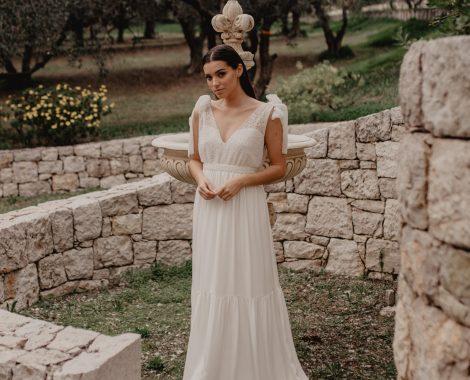 fontaine et mariée